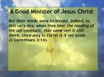 a good minister of jesus christ75