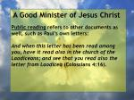 a good minister of jesus christ76