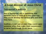 a good minister of jesus christ8