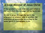 a good minister of jesus christ80