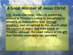 a good minister of jesus christ83
