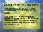 a good minister of jesus christ85