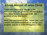 a good minister of jesus christ87
