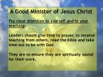 a good minister of jesus christ89