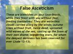 false asceticism17