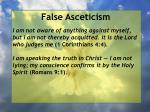false asceticism30