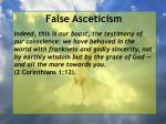 false asceticism31