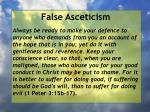 false asceticism34