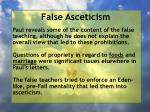 false asceticism39