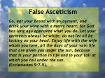 false asceticism51
