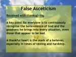 false asceticism54