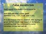 false asceticism57