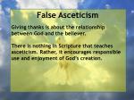 false asceticism58