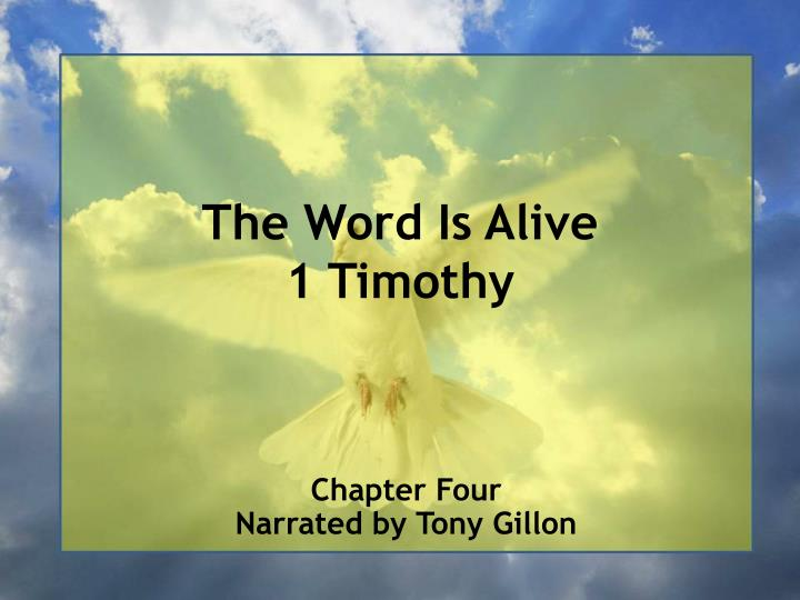 the word is alive 1 timothy n.