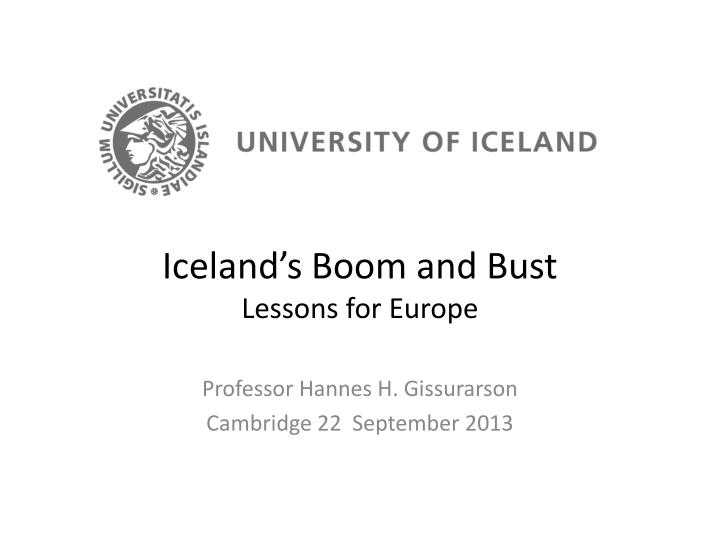 iceland s boom and bust lessons for europe n.