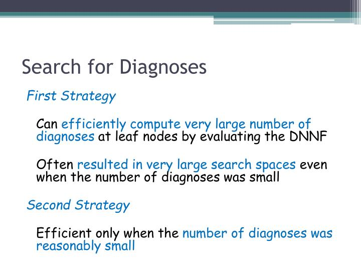 Search for Diagnoses