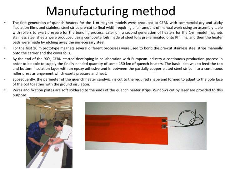 Manufacturing method