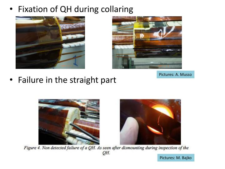 Fixation of QH during collaring