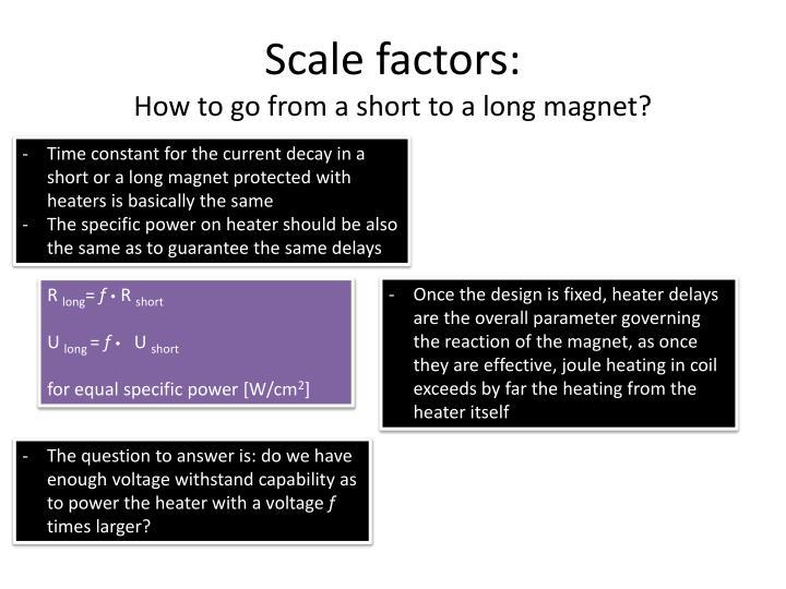 Scale factors: