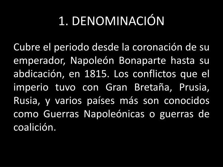 1 denominaci n