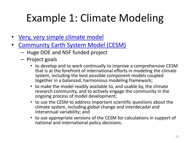 Example 1: Climate Modeling