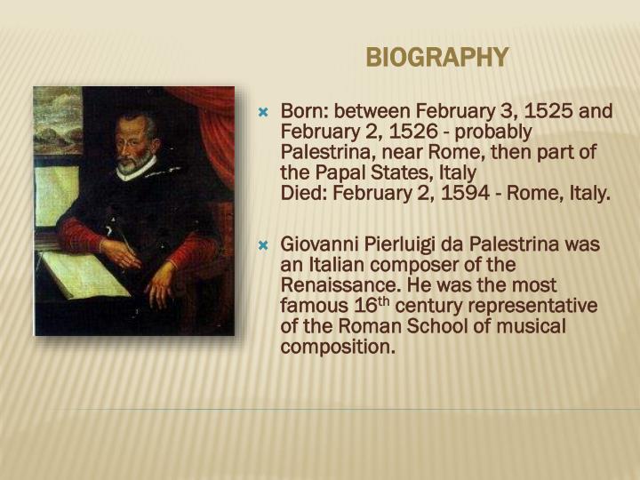 giovanni pierluigi da palestrina biography