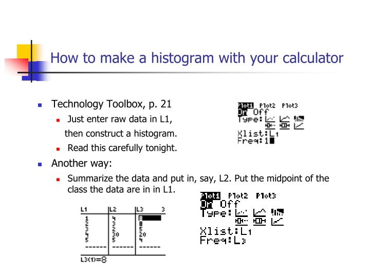 How to make a histogram with your calculator