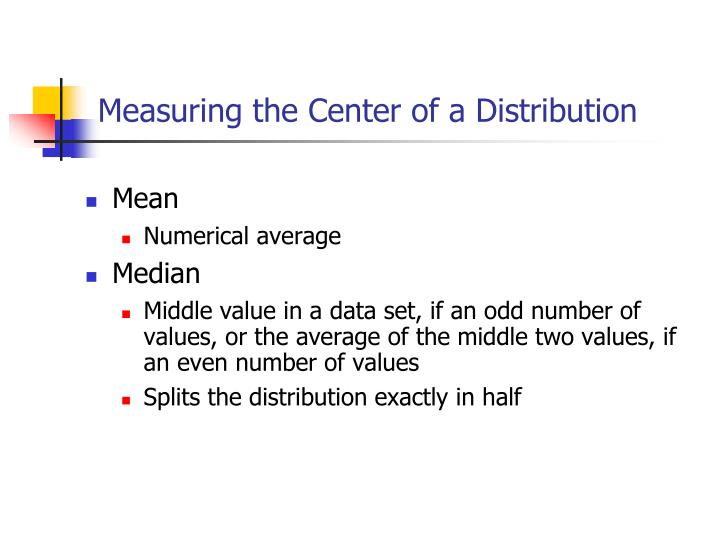 Measuring the Center of a Distribution