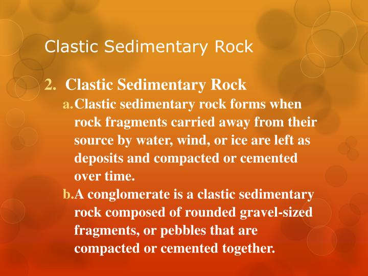 Clastic Sedimentary Rock
