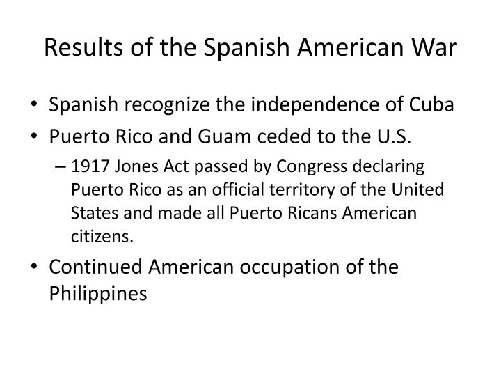 ppt american imperialism powerpoint presentation id  results of the spanish american war