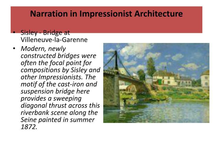 Narration in Impressionist Architecture