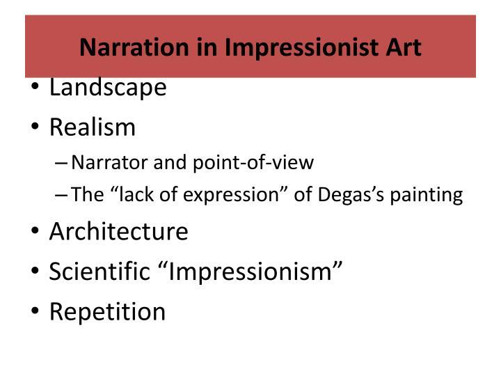 Narration in Impressionist Art