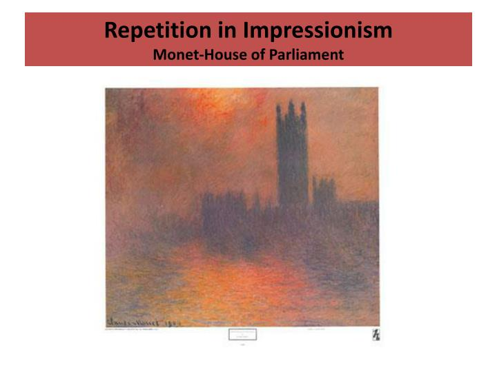 Repetition in Impressionism