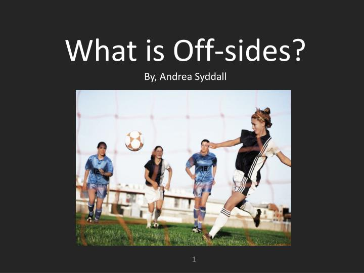 what is off sides by andrea syddall n.