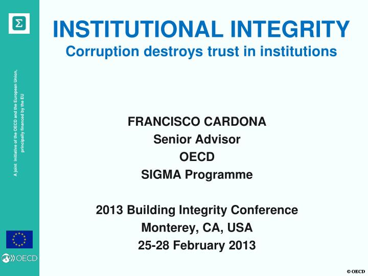 institutional integrity corruption destroys trust in institutions n.