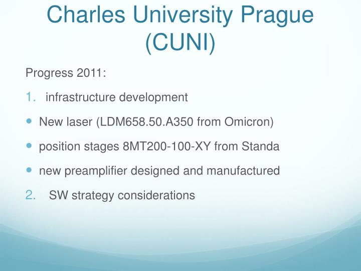 Charles university prague cuni1