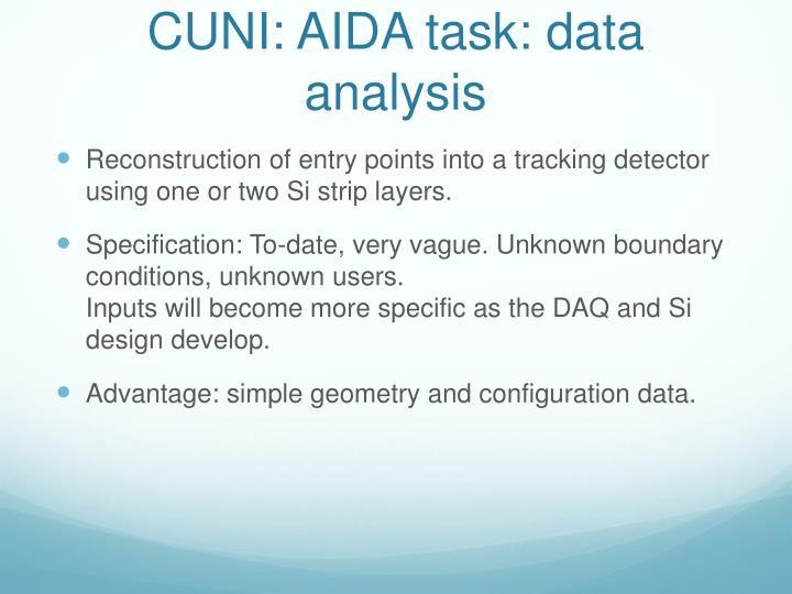 CUNI: AIDA task: data analysis