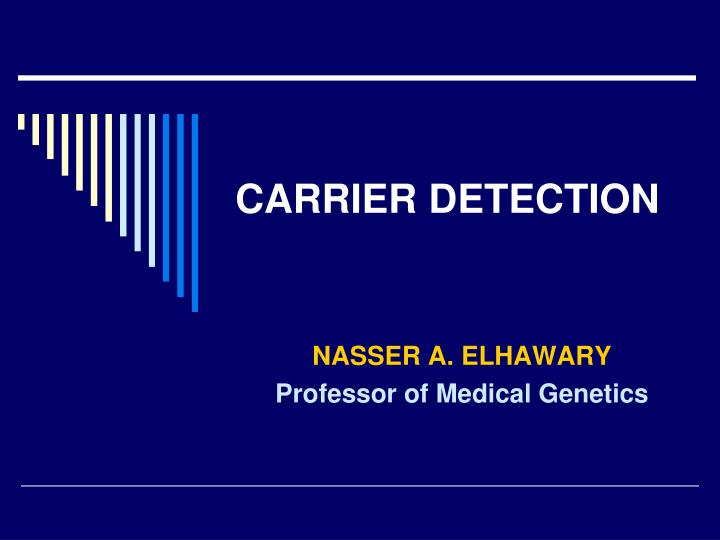 carrier detection n.