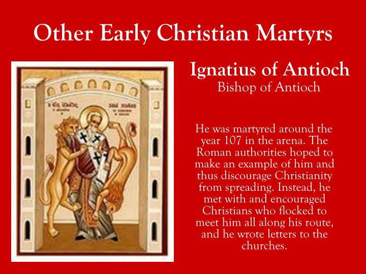 Other Early Christian Martyrs