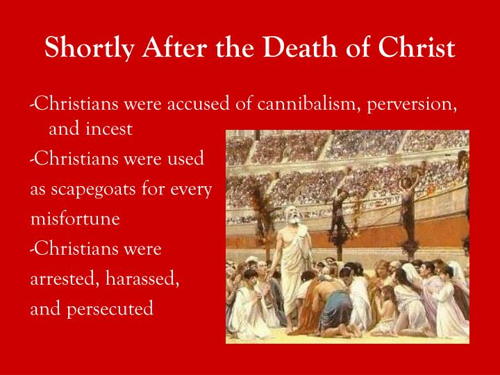 Shortly after the death of christ