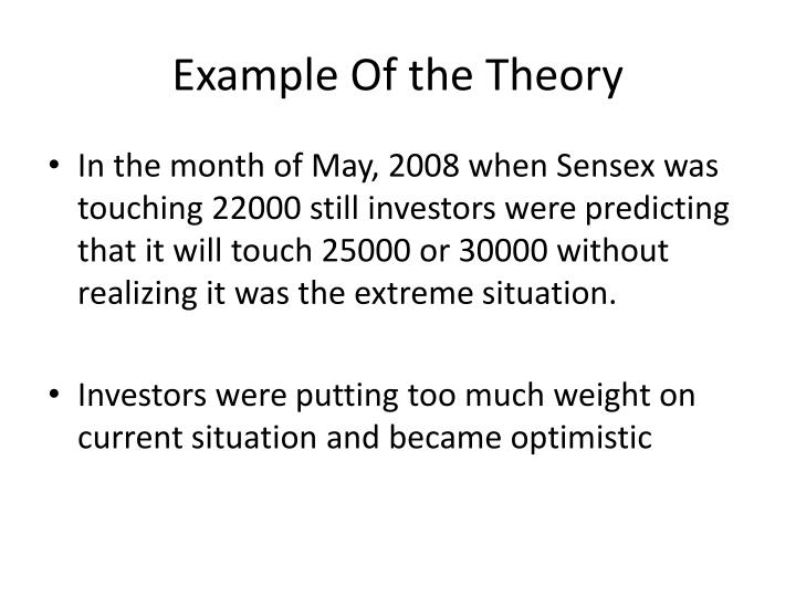 Example Of the Theory