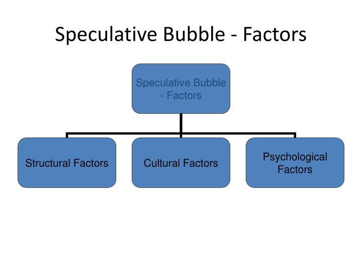 Speculative Bubble - Factors