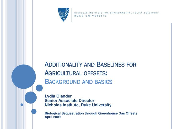 additionality and baselines for agricultural offsets background and basics n.