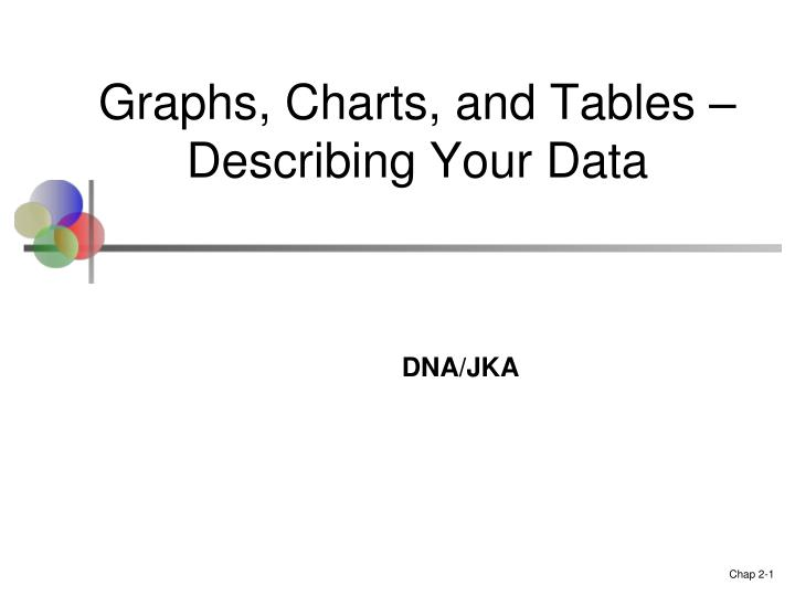 graphs charts and tables describing your data n.