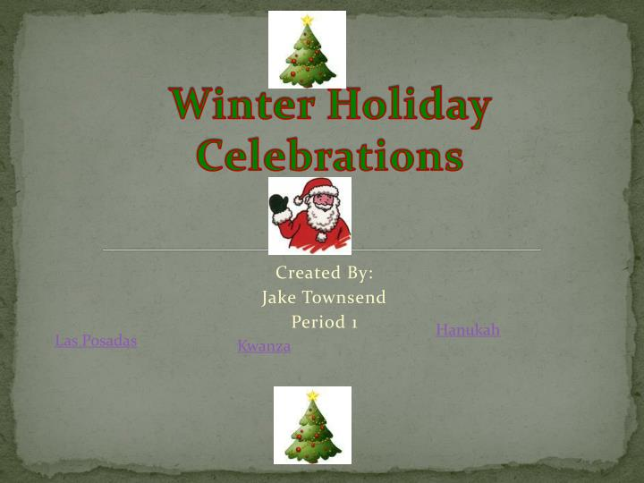winter holiday celebrations n.