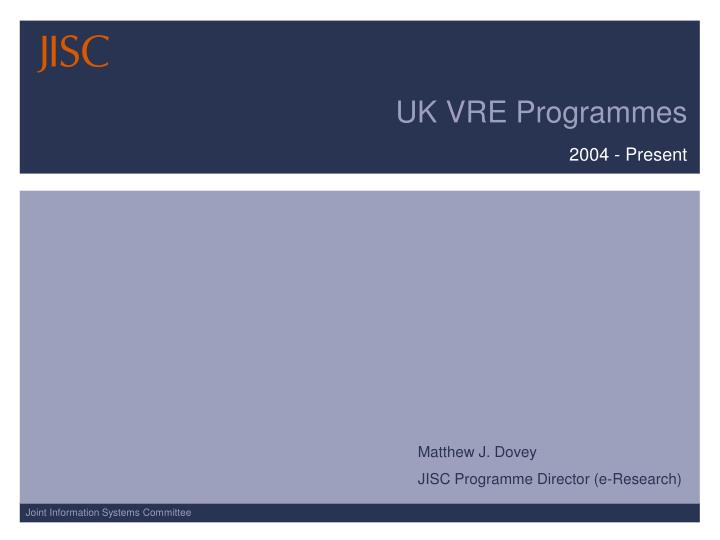 uk vre programmes n.