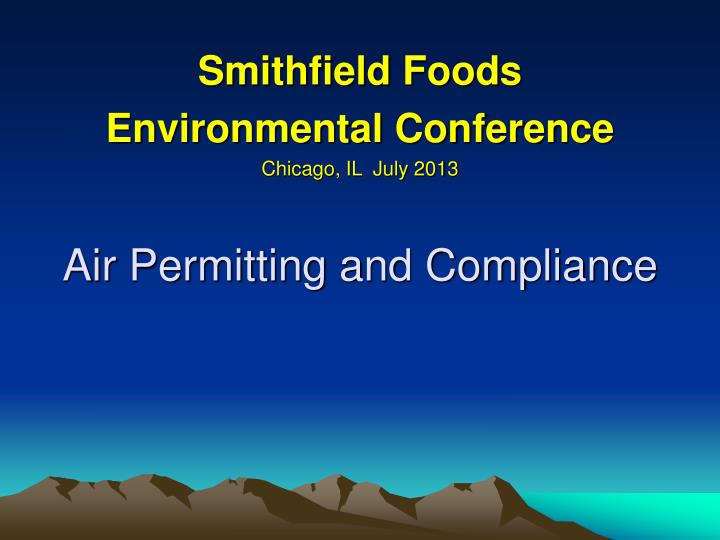 air permitting and compliance n.