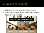 d collective security