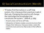 d social constructivism wendt