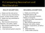 f comparing neorealism and neoliberalism